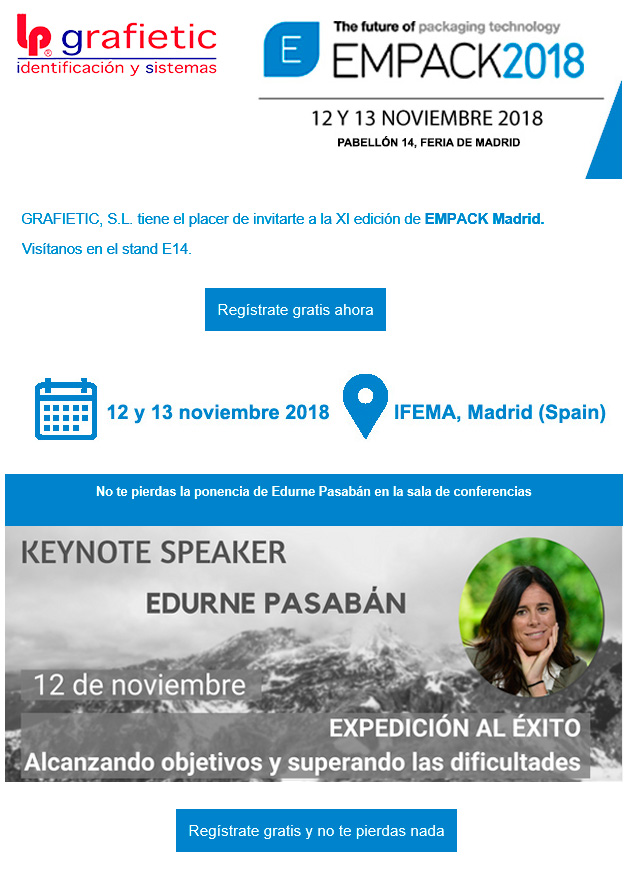 invitación empack madrid