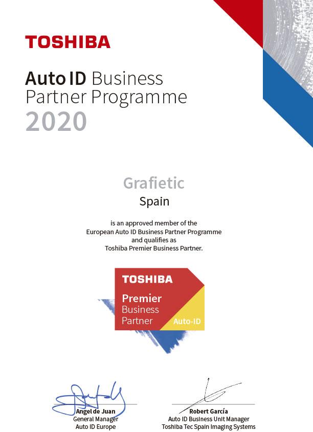 certificado partner toshiba grafietic