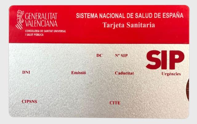 tarjeta magnetica sanitario