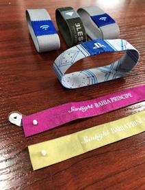 pulsera de tela con tag rfid y sin tag