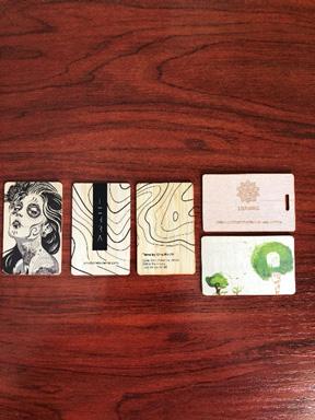 tarjetas de bambú para hoteles