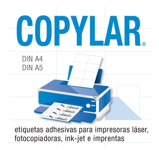 etiquetas adhesivas dinA4 y dinA5
